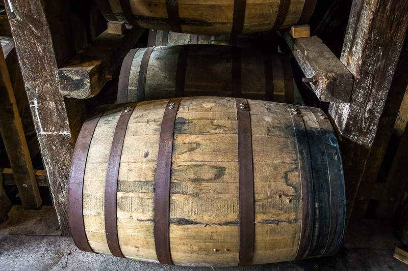 Barrels in storage.  Some amount of seepage occurs naturally over time, but causes the wood to swell and reseal at the same time.