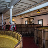 Just as with the Willett distillary there are vats in various stages of fermentation.