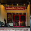 Red is the distinctive color of Maker's Mark and you see it everywhere, including the formal entrance to the distillary.