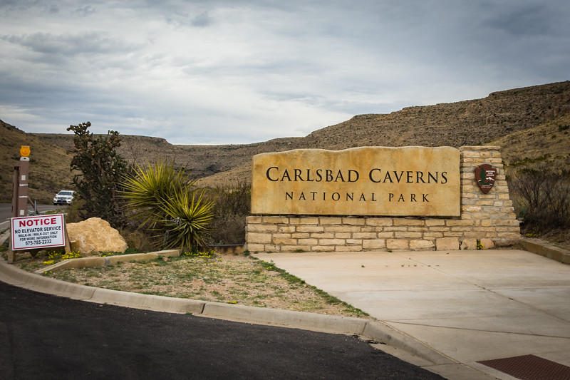 One day we went to Carlsbad Caverns National Park.  The most important part of this picture is the notice about the elevator not being available.  It's an 80 story walk down and 80 story walk back up.