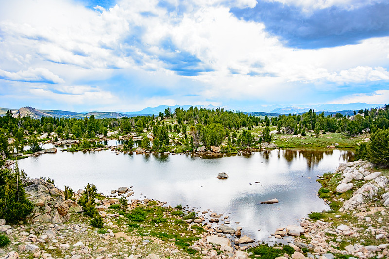 Alpine lakes on Beartooth Highway. This scene was much more beautiful than I was able to capture with the camera.