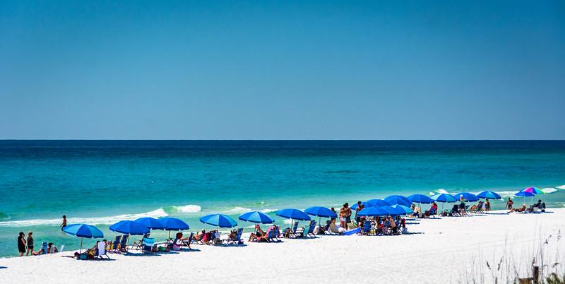 The powder white sand beach is always beautiful