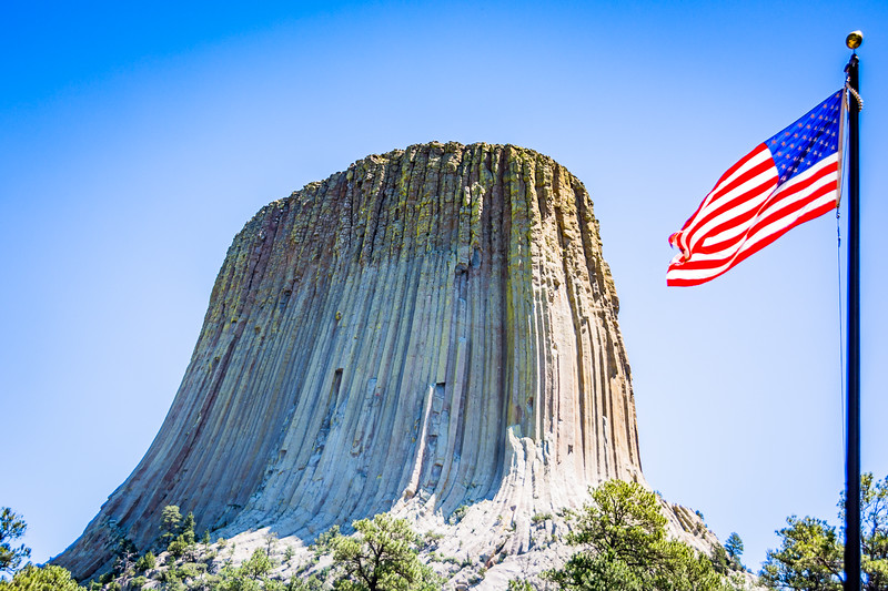 Like many other iconic landmark destinations, Devil's Tower was formed from volcanic activity and subsequent erosion.
