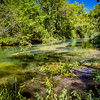 The Current River flows through Montauk State Park - MO.