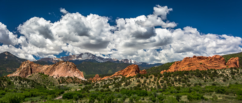 I really enjoyed this view of the Garden of the Gods with Pikes Peak in the background.  No photo does it justice because it is pure scenic awesomness overload.