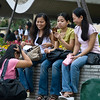 aeamador©-HK08_DSC0098  Hong Kong, downtown area, near ifc tower. I was very impressed by the affluence evidenced in this area. Hong Kong is quite a chic and fine place.<br /> These are Filipino maids that fill the entire downtown public spaces (sidewalks, streets and plazas) for picnicking. There are thousands of them, spread all over. No husbands, no men, no children. Just the women. Sunday is their day off.