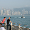 aeamador©-HK08_DSC0167. Hong Kong bay, from Tsim Sha Tsui, Kowloon.<br /> You can get a good feeling for the smog in this picture.