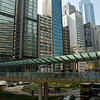 aeamador©-HK08_DSC0034  Hong Kong, downtown area, near ifc tower. I was very impressed by the affluence evidenced in this area. Hong Kong is quite a chic and fine place.<br /> Bridges like this interconnect buildings and shopping malls.