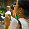 aeamador©-HK08_DSC0195      Hong Kong. Kowloon. Tsim Sha Tsui.<br /> <br /> It caught my attention quite a few people wearing these surgeon's masks. Apparently, if they are a little sick they wear it to protect themselves.