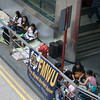 aeamador©-HK08_DSC0042  Hong Kong, downtown area, near ifc tower. I was very impressed by the affluence evidenced in this area. Hong Kong is quite a chic and fine place.<br /> These are Filipino maids that fill the entire downtown public spaces (sidewalks, streets and plazas) for picnicking. There are thousands of them, spread all over. No husbands, no men, no children. Just the women. Sunday is their day off.