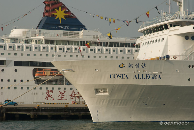 aeamador©-HK08_DSC0158. Tsim Sha Tsui, Hong Kong. Cruise Ships.