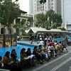 aeamador©-HK08_DSC0099  Hong Kong, downtown area, near ifc tower. I was very impressed by the affluence evidenced in this area. Hong Kong is quite a chic and fine place.<br /> These are Filipino maids that fill the entire downtown public spaces (sidewalks, streets and plazas) for picnicking. There are thousands of them, spread all over. No husbands, no men, no children. Just the women. Sunday is their day off.