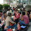 aeamador©-HK08_DSC0111  Hong Kong, downtown area, near ifc tower. I was very impressed by the affluence evidenced in this area. Hong Kong is quite a chic and fine place.<br /> These are Filipino maids that fill the entire downtown public spaces (sidewalks, streets and plazas) for picnicking. There are thousands of them, spread all over. No husbands, no men, no children. Just the women. Sunday is their day off.