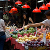 aeamador©-HK08_DSC0235 Saukiwan market. Saukiwan, Hong Kong island. <br /> Well, it's just an outdoor supermarket - this stuff looks as imported as you find in you local grocery store.