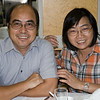 aeamador©-HK08_DSC0109. Samuel & Leona from Hong Kong.<br /> My giclée supplier Samuel and his wonderful wife Leona were so kind to treat me to a wonderful dinner in the seafood market.