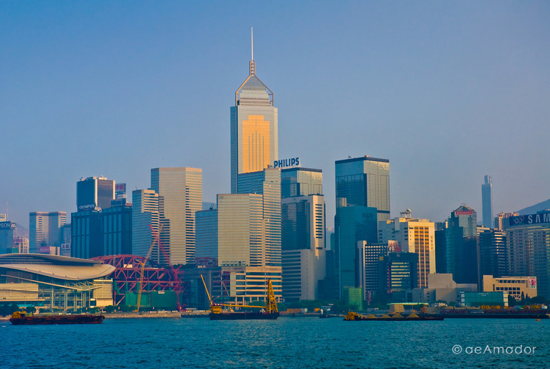 aeamador©-HK08_DSC0153  Hong Kong, downtown view from the water. I was very impressed by the affluence evidenced in this area. Hong Kong is quite a chic and fine place.