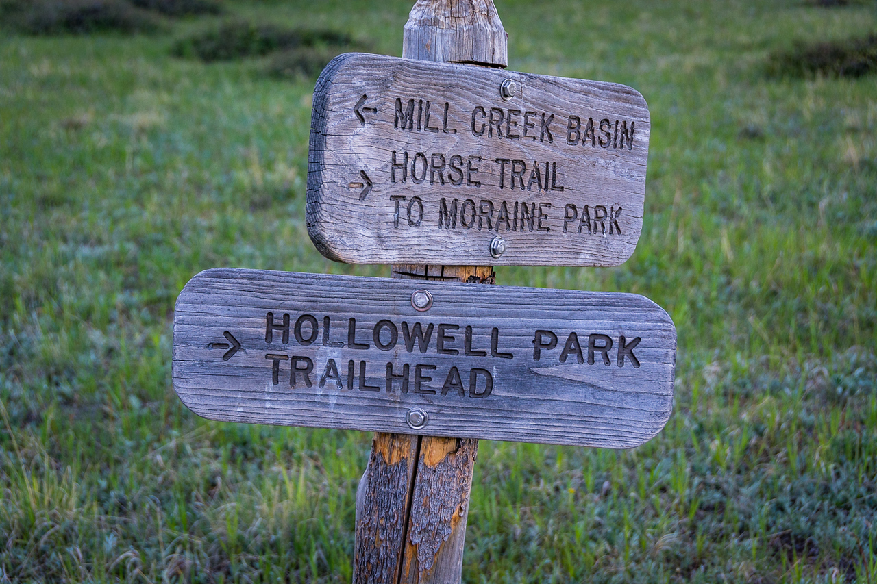 Typical of trail signs