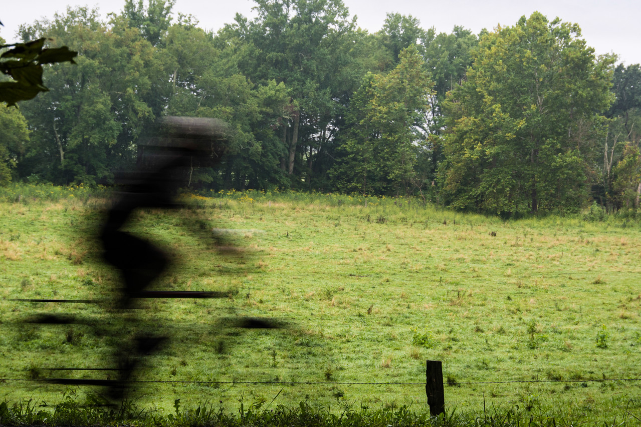 Early morning biker in Cades Cove.  This was the shot I was trying to get all along. =)