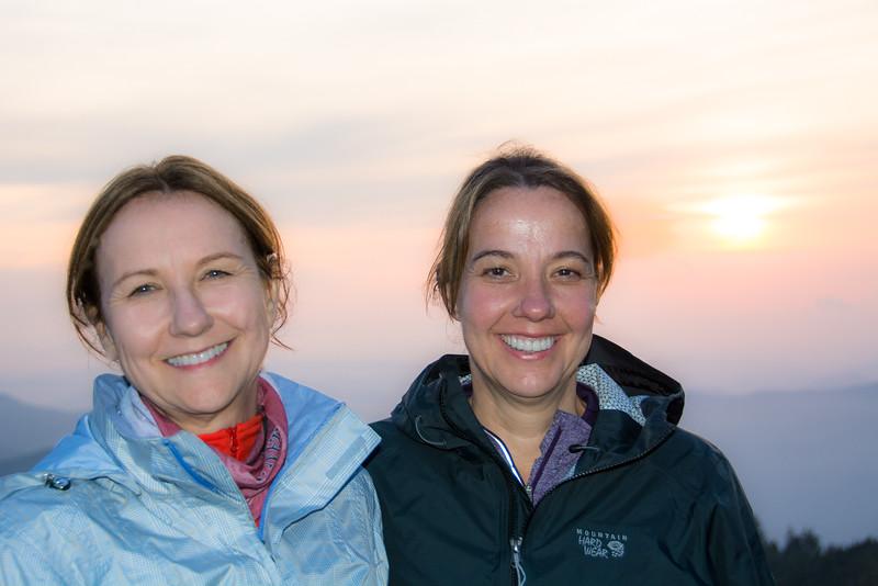 So, I took Janet's picture in thanks.  Janet Kresser (right) and her sister, Julie Whitsett (left).