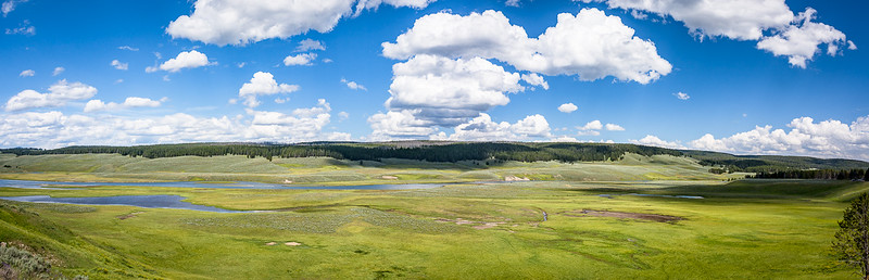 The landscapes in Yellowstone are beautiful.
