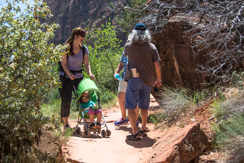 No, the trail was not appropriate for a stroller