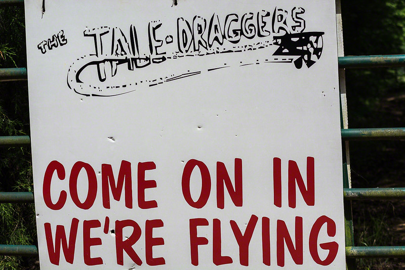 When we went out exploring we ran across the Tale Draggers remote control airplane club.