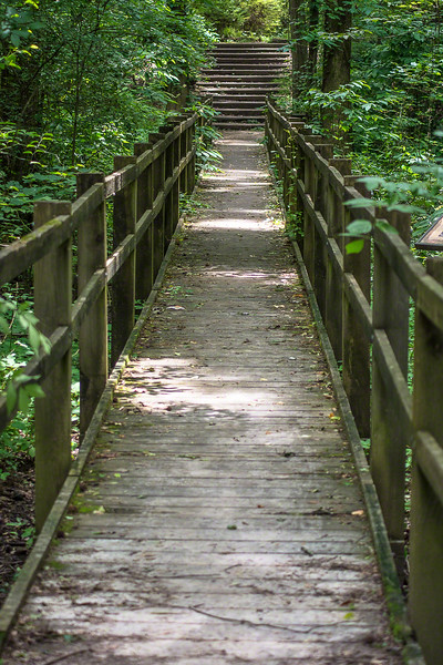 This bridge was near the end of the trail.
