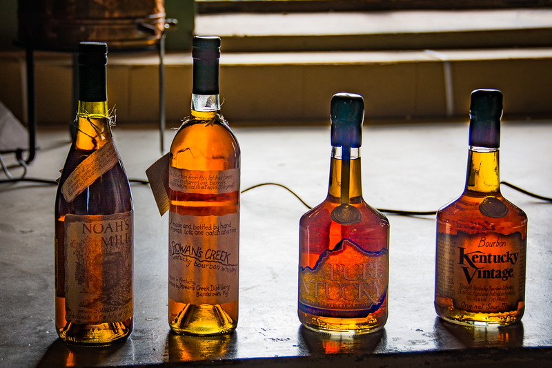 Each distillary markets bourbon under several labels that represent sometimes subtle but important distinctions between them.  These were the choices they offered on our tour.