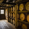 This arrangement of barrels is different than we have seen in other rickhouses.