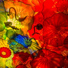 One of the panels of Dale Chihuly glass