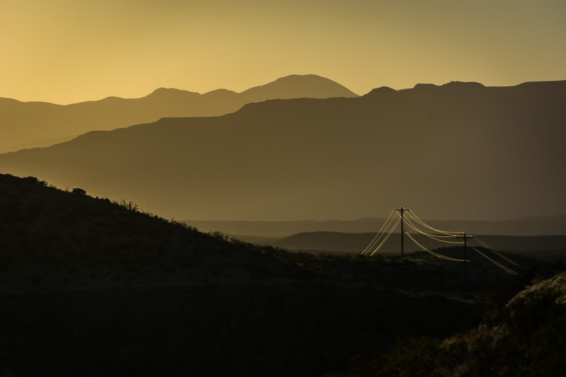 Here is another example of how the setting sun can highlight dust over long distances.  I really like this shot.