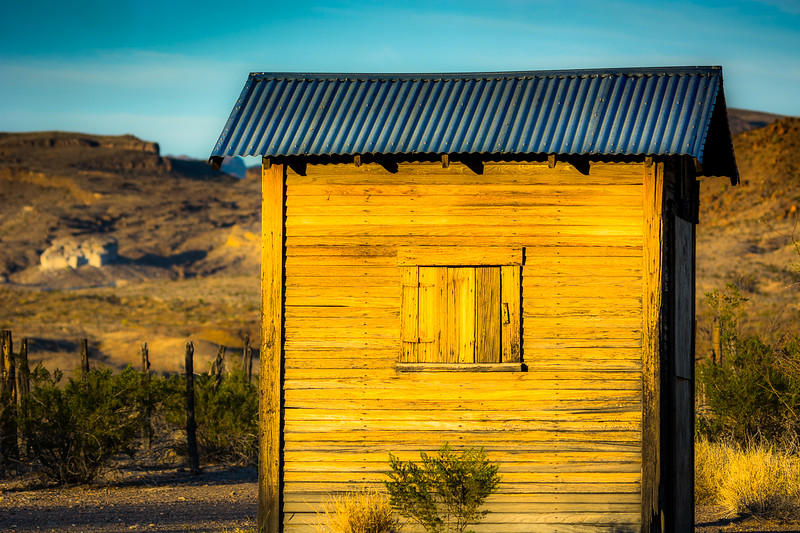 There is a small visitor center on the road to the Cottonwood Campground.  This little building caught the setting sun in a very special way and I could not pass up this shot.
