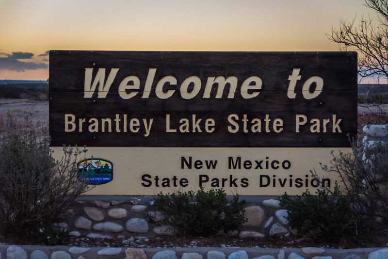 We camped at Brantley Lake State Park in New Mexico outside of Carlsbad.  It was getting late when we got there.