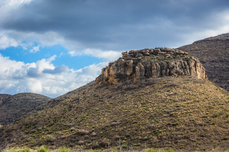 Another interesting hill on the way back from Sitting Bull Falls