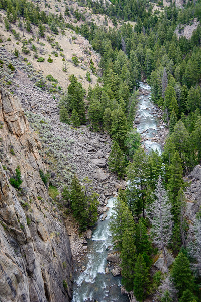 One view of Sunlight Creek below the bridge