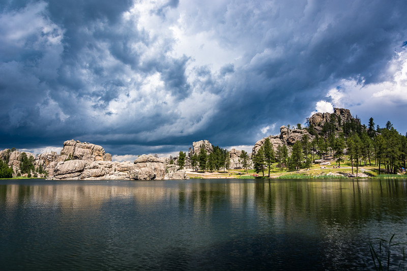 There were storm clouds rolling in just as we got to Sylvan Lake.