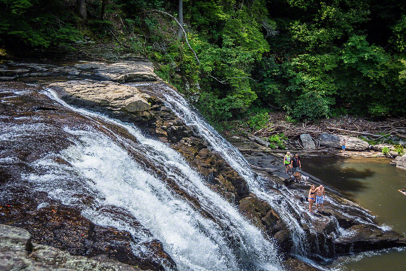 These cascades can be a little dangerous, but people flock to them.