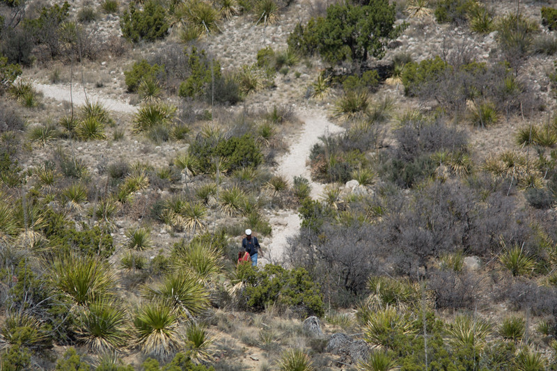 We were running out of time and did the mountain top nature trail, but not the longer hike into the canyon.  Here you can see a couple  returning from the longer trail.