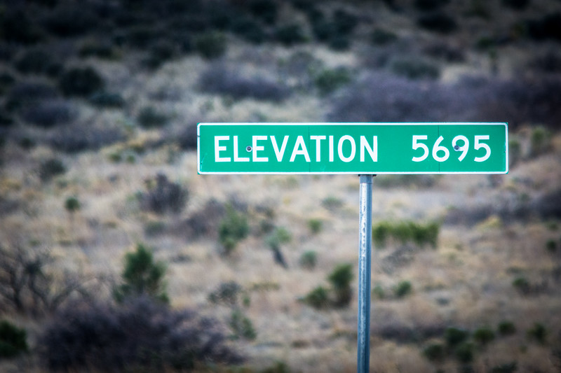The elevation was something we adjusted to along the way.