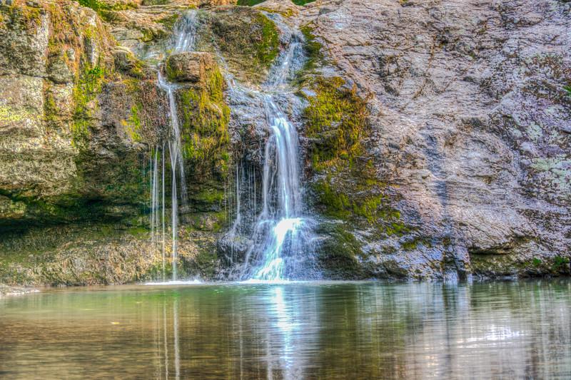 The falls at Lake Catherine