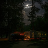 The moon made walks at night easier and added to the glow of a neighboring campsite.