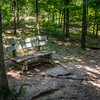 There are a few benches along the hiking trails.
