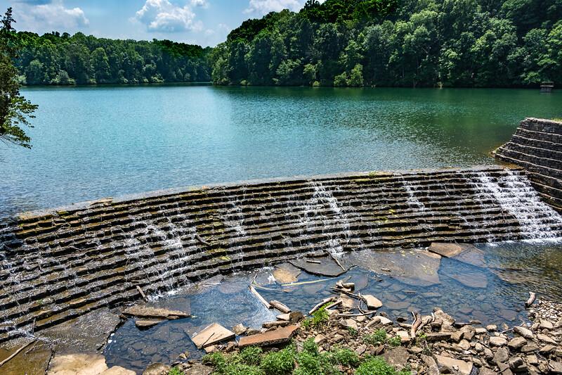 The dam at Lake Woodhaven