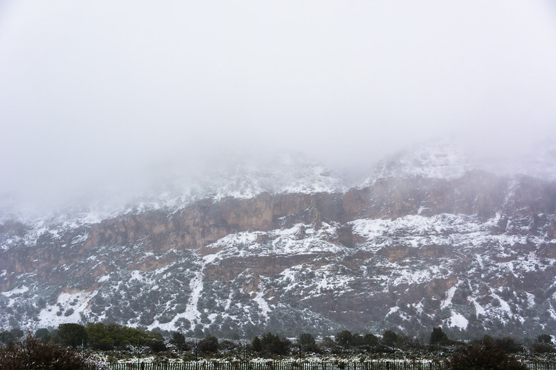 Last picture of the trip.  It continued to snow a bit as we drove to Las Vegas for the flight home, but cleared quickly.
