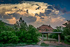 This cloudhead provided a nice backdrop to the rustic picnic shelter.
