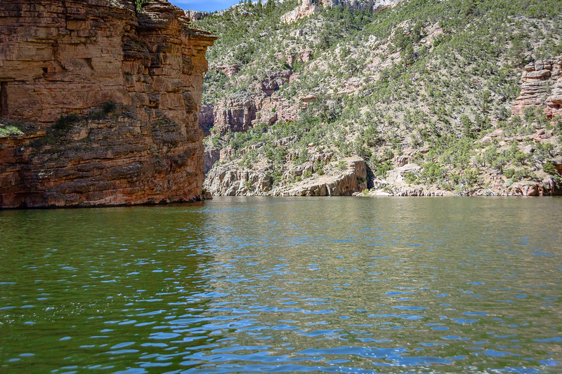 Portions of the canyon widen while others spots are more narrow.
