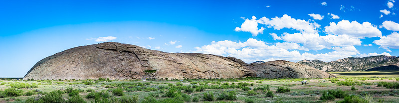 From a distance you can understand why Independence Rock was a readily identifiable landmark for wagon trains.  It was an important landmark on the Oregon, Mormon and California trails.