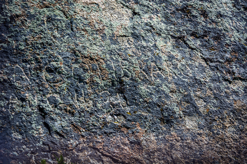 Discovering even faint inscriptions like this one is part of the fun of visiting this historic site.
