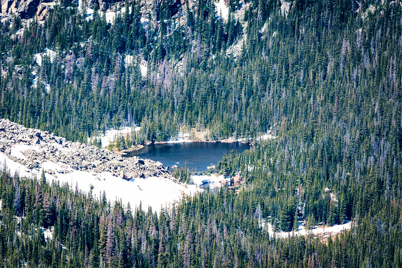 You can bet the water is cold in this alpine lake.