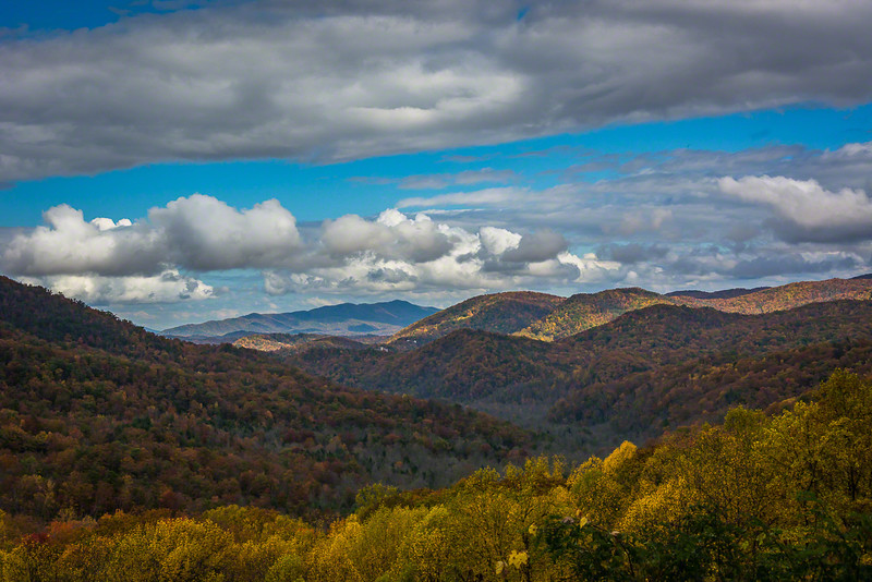 From on the road to Cades Cove
